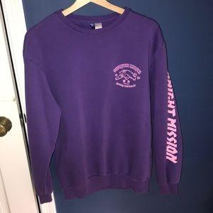 H&M Purple Pullover Sweatshirt Japanese Writing S